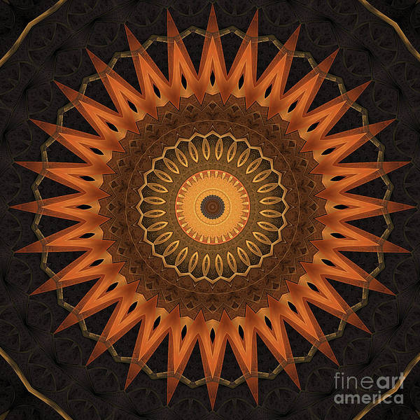 Fall Colors Digital Art - Mandala 28 by John Edwards