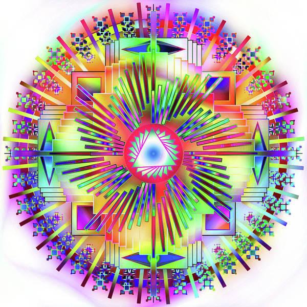 Digital Art - Mandala Candy by Mario Carini
