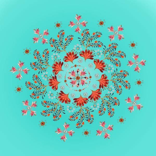 Wall Art - Digital Art - Mandala Flowering Series#3. Ultramarine by Elena Kotliarker