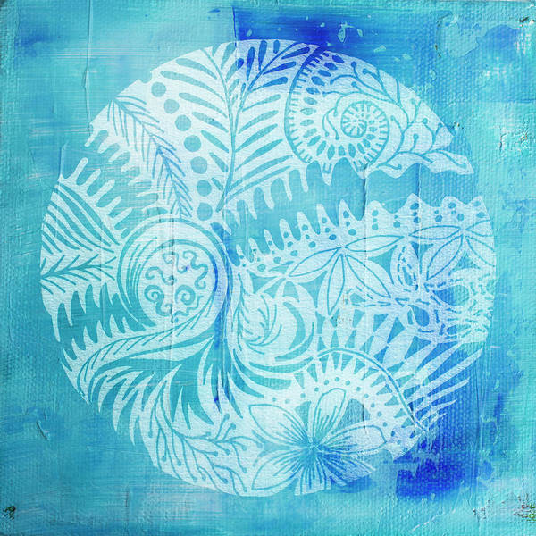 Painting - Mandala In Blue And White by Jocelyn Friis
