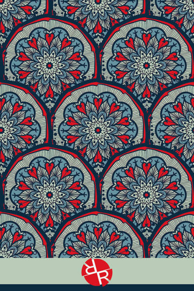 Painting - Mandala Seamless Pattern by Tony Rubino