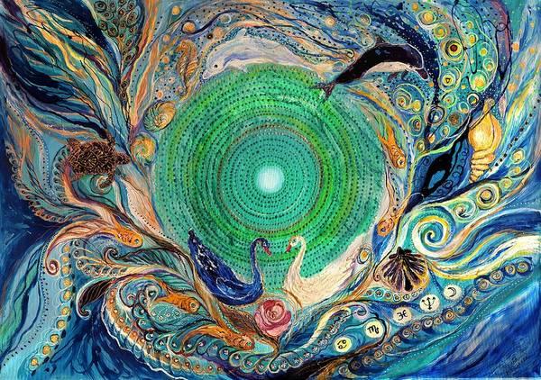 Wall Art - Painting - Mandala Series #1. Element Water by Elena Kotliarker