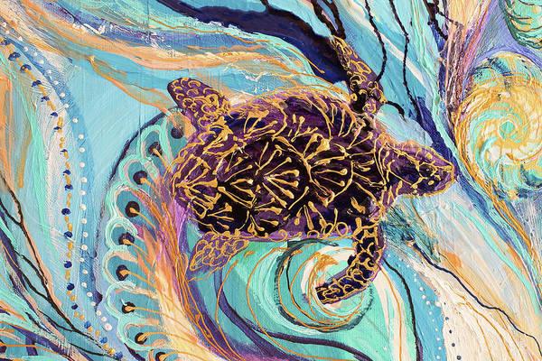 Wall Art - Painting - Mandala Series #1. Fragment #3 by Elena Kotliarker