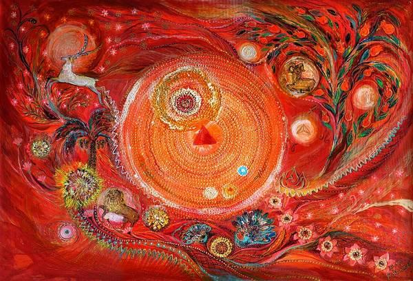 Wall Art - Painting - Mandala Series #2. Element Fire by Elena Kotliarker