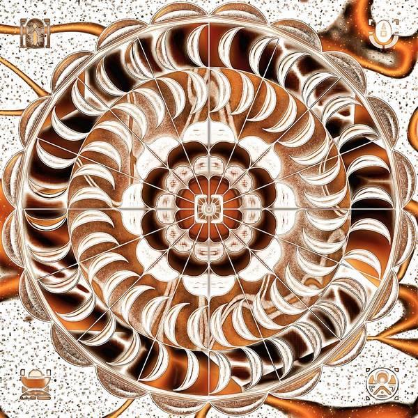 Digital Art - Mandala Wheel Function by Mario Carini