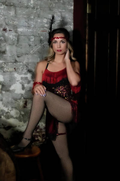 Photograph - Mandy Posing In The Wine Cellar by Dan Friend