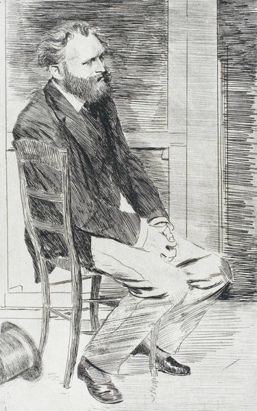 Wall Art - Relief - Manet Seated, Turned To The Right by Edgar Degas