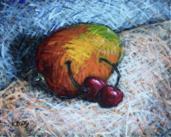 Wall Art - Painting - Mango And Cherries by Karla Beatty