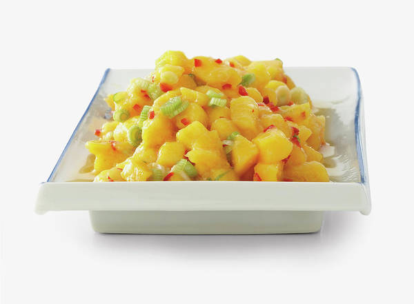 Mangos Photograph - Mango-ginger Relish In Square Shaped by Ian O'leary