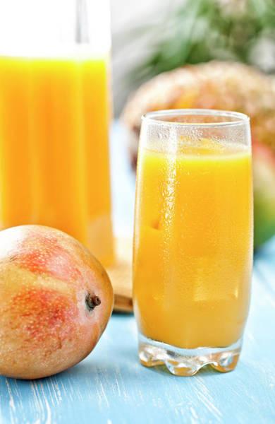 Mangos Photograph - Mango Juice by Gmvozd
