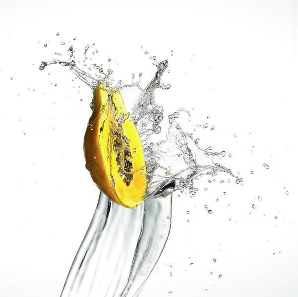 Mangos Photograph - Mango Splash by Bill Cahill