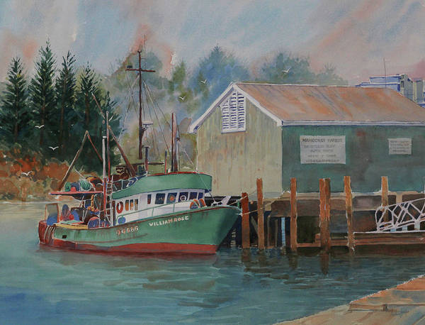 Wall Art - Painting - Mangonui Harbour by Anthony Forster