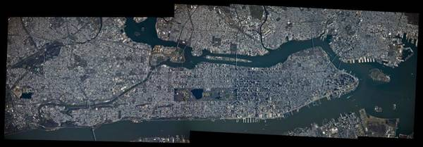 Painting - Manhattan - 2012 From Space by Celestial Images