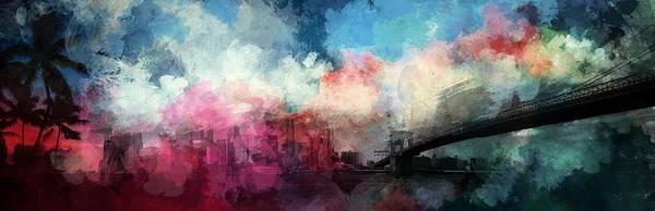 Rainbow Bridge Wall Art - Painting - Manhattan by ArtMarketJapan