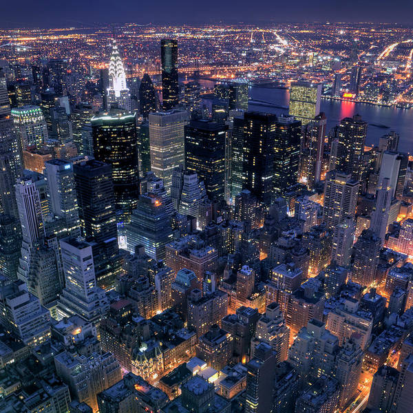 Queen Photograph - Manhattan At Night by Marcel Germain