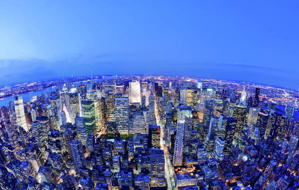 Central Business District Wall Art - Photograph - Manhattan At Night by Nikada