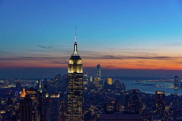 Photograph - Manhattan At Sunset by Mark Hunter
