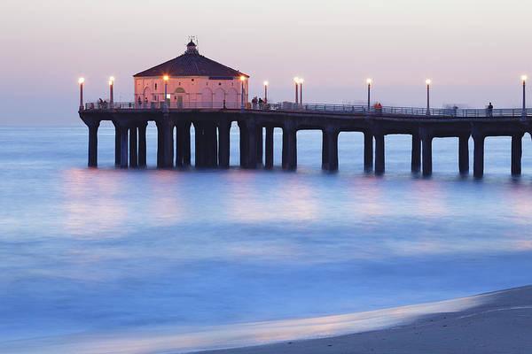 Pier Photograph - Manhattan Beach Pier by S. Greg Panosian