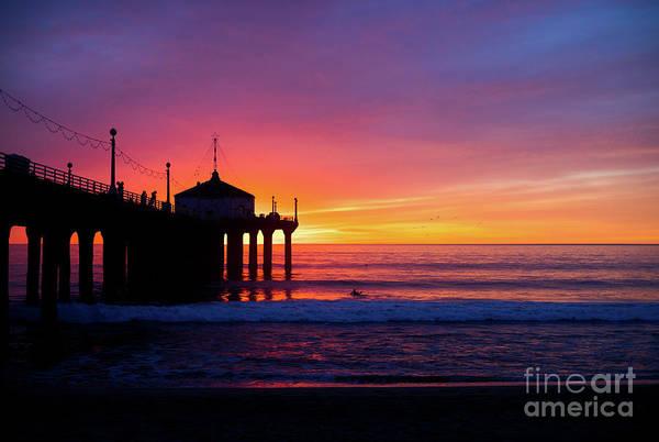 Wall Art - Photograph - Manhattan Beach Pier Sunset by Sarah Ainsworth