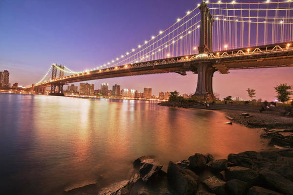 East Side Photograph - Manhattan Bridge And Lower East Side by Renaud Visage