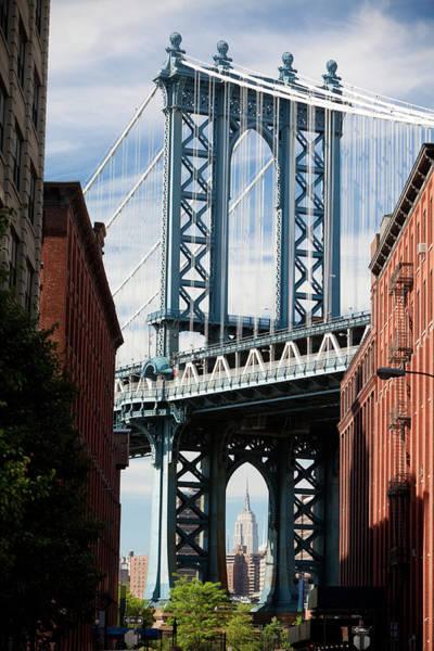East Side Photograph - Manhattan Bridge Classic View by Naphtalina