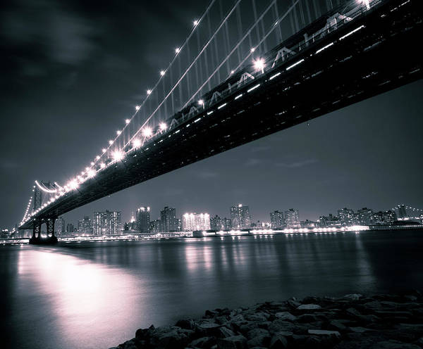 Williamsburg Photograph - Manhattan Bridge In The Evening by Wdstock