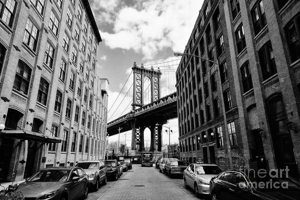 Landmark Wall Art - Photograph - Manhattan Bridge Seen From A Brick by Youproduction