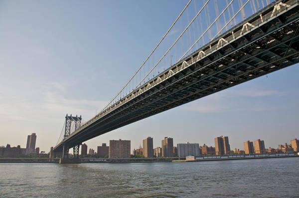 East Side Photograph - Manhattan Bridge Seen From Fulton Ferry by Barry Winiker