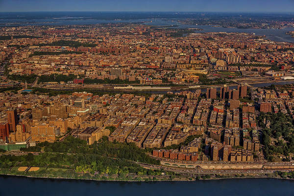 Photograph - Manhattan Bronx Nyc Aerial by Susan Candelario