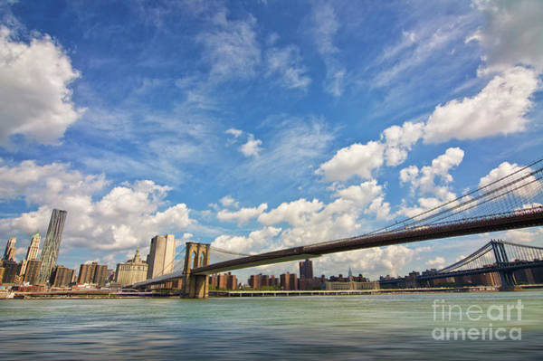 Wall Art - Photograph - Manhattan From Brooklyn by Delphimages Photo Creations