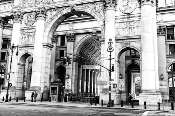Photograph - Manhattan Municipal Building Arch In New York City by John Rizzuto