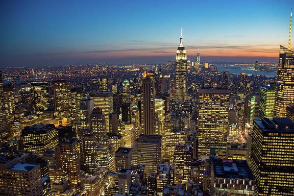 Photograph - Manhattan Nightfall by Mark Hunter