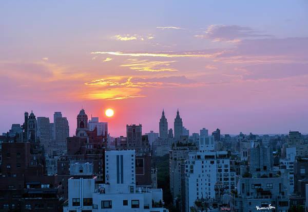 Wall Art - Photograph - Manhattan Sundown 3 by Madeline Ellis