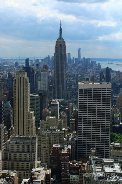 Photograph - Manhattan View With Empire State Buidling by Christiane Schulze Art And Photography