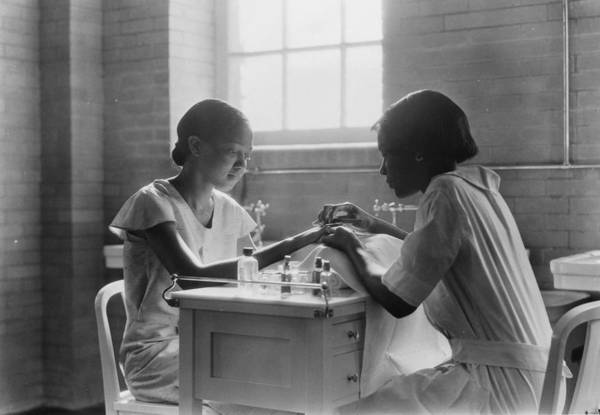 Dressing Up Photograph - Manicure Class by Lewis W Hine