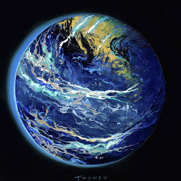 Painting - Manifesto 1.0 Blue Marble Earth 5 by Catherine Twomey