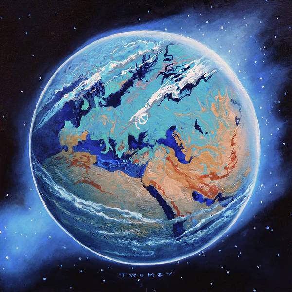 Painting - Manifesto 1.0 Blue Marble Earth, Europe, Africa Et Al by Catherine Twomey