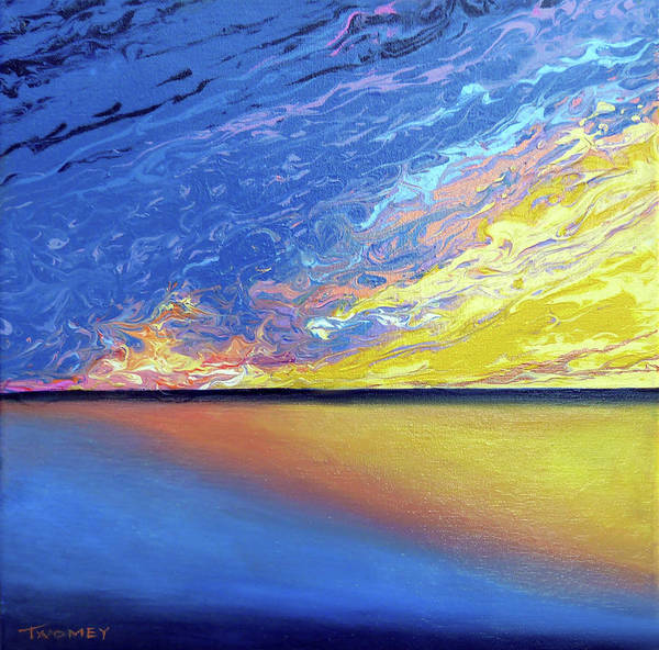Oceanscape Painting - Manifesto, The Gulf Sun by Catherine Twomey