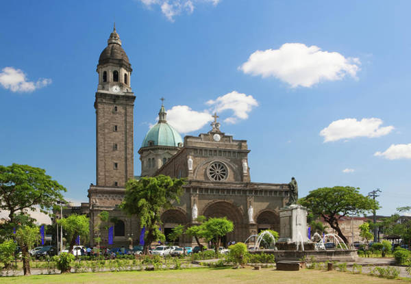 Philippines Photograph - Manila Cathedral Intramuros Manila by Laurie Noble