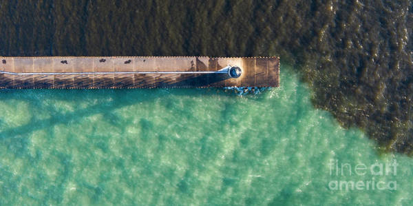 Manistee Photograph - Manistee Breakwall Aerial by Twenty Two North Photography
