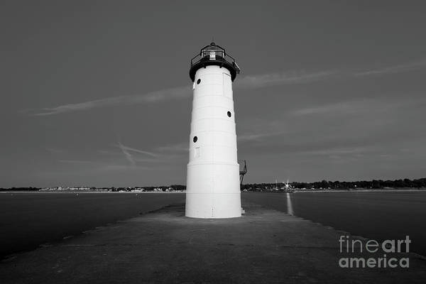 Wall Art - Photograph - Manistee Light Black And White by Twenty Two North Photography