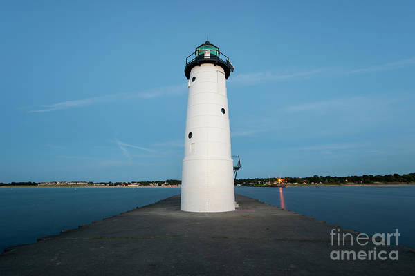 Wall Art - Photograph - Manistee Lighthouse From Tip Of Pier by Twenty Two North Photography