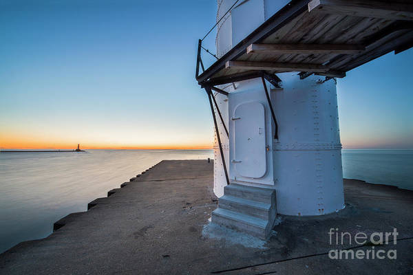 Wall Art - Photograph - Manistee Lighthouse Sunset From Base by Twenty Two North Photography