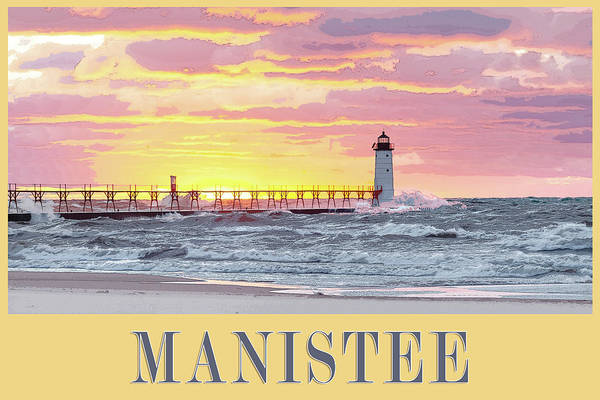 Photograph - Manistee Pierhead Poster by Fran Riley