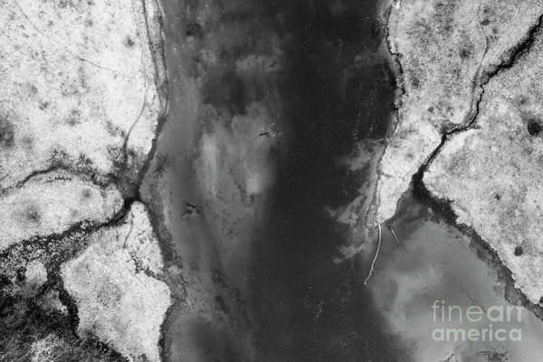 Wall Art - Photograph - Manistee River Aerial Black And White by Twenty Two North Photography