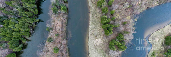 Wall Art - Photograph - Manistee River Aerial Panorama by Twenty Two North Photography