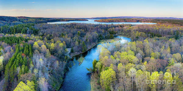 Manistee Photograph - Manistee River And Hodenpyle Dam Aerial by Twenty Two North Photography