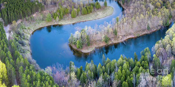 Wall Art - Photograph - Manistee River Bend From Above by Twenty Two North Photography