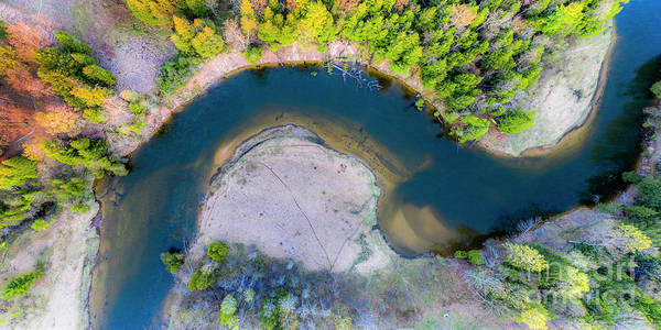 Wall Art - Photograph - Manistee River Curve Aerial by Twenty Two North Photography