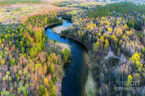 Wall Art - Photograph - Manistee River From Above In Spring by Twenty Two North Photography